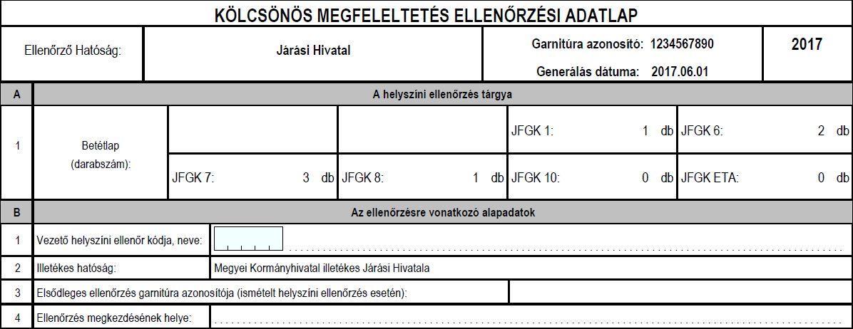 A JFGK 1, 10 KM ellenőrzési jegyzőkönyv és igazolás kitöltésének bemutatása